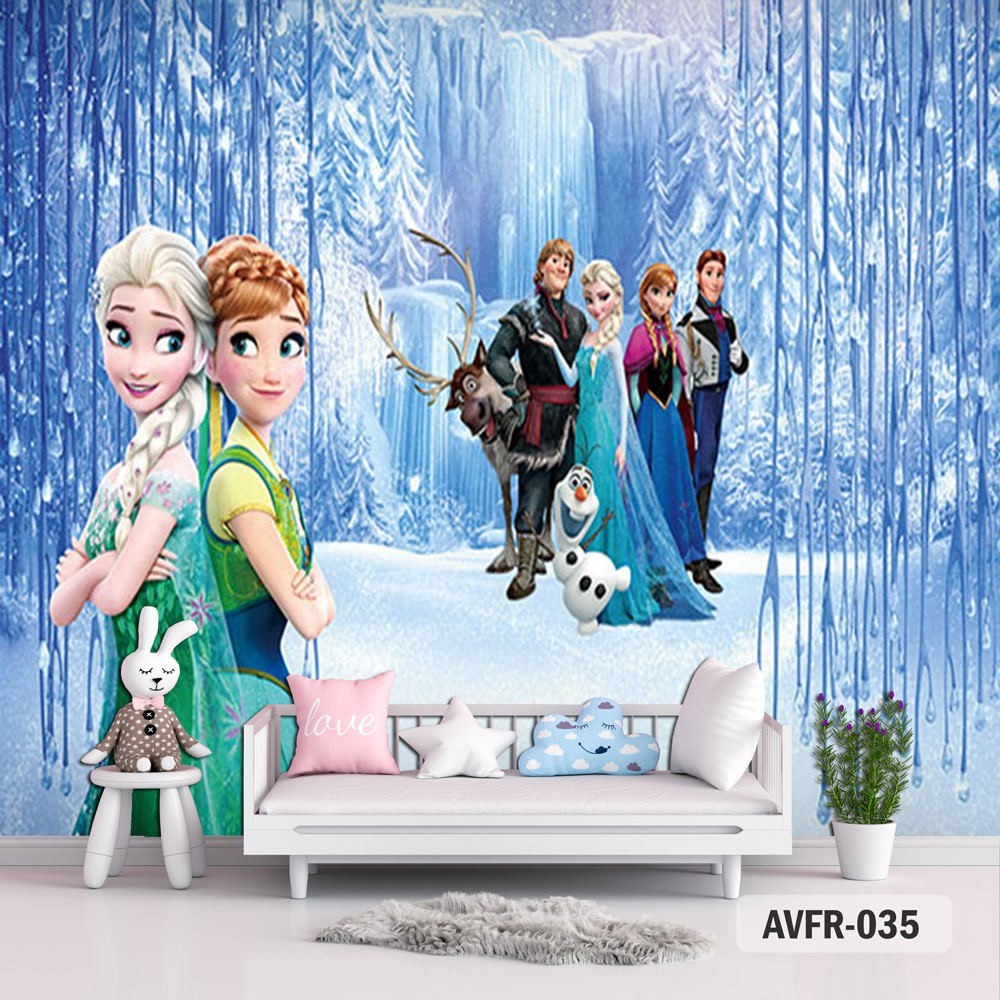 Wallpaper Frozen Series 2 Wallpaper Dinding 3d Wallpaper Frozen 3d Wallpaper Anak Anak