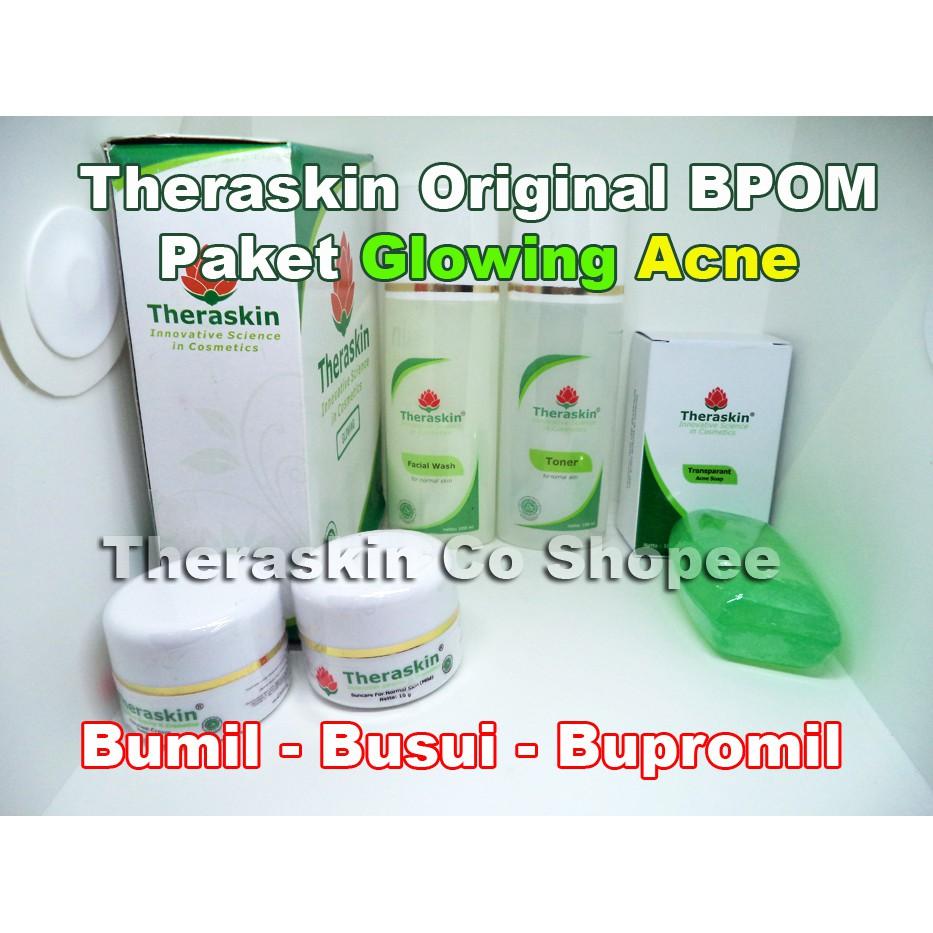 Paket Glowing Cream Theraskin Original Bpom Shopee Indonesia Normal