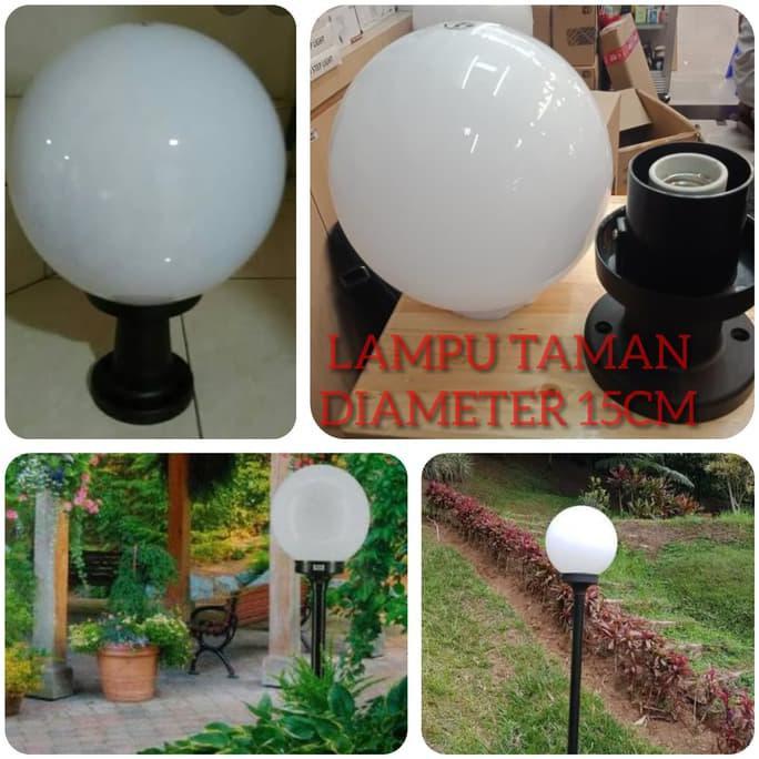 Bayar Di Tempat Kap Lampu Taman Bulat Putih Susu Fitting E27 Diameter 15cm Special Kode 516 Shopee Indonesia