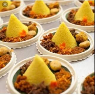 Nasi Kuning Tumpeng Mini Ultah Shopee Indonesia