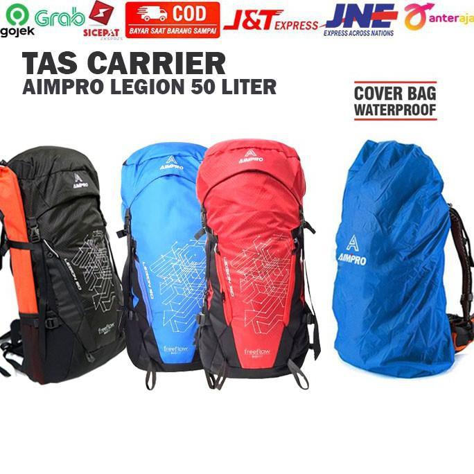 Tas Hiking Pria / Wanita Carrier Aimpro Legion 50 Liter - Multi Warna