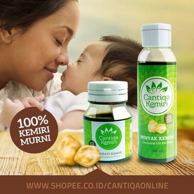 penumbuh penyubur penghitam rambut bayi & dewasa minyak kemiri asli Minyak Dan Saripati Cantiqa Kemiri
