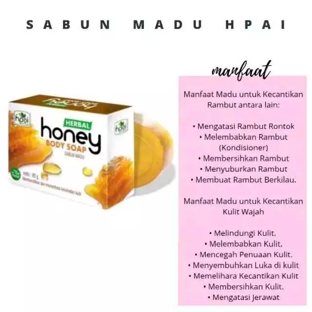 Sabun Hni Hpai Sabun Herbal Sabun Kolagen Sabun Honey Sabun Madu Sabun Propolis Halal Shopee Indonesia