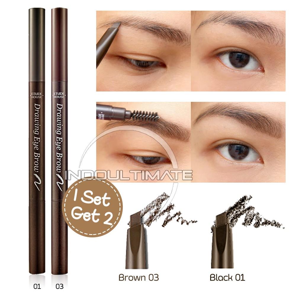 Original Pensil Alis Viva Eye Brow Pencil Brown Black Hitam Coklat 100 Asli Shopee Indonesia
