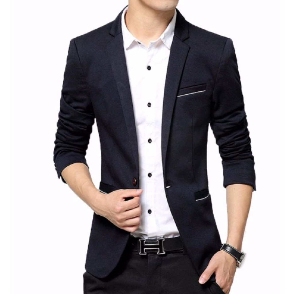 Blazer Stylish Black Shopee Indonesia Anak Muda Younger
