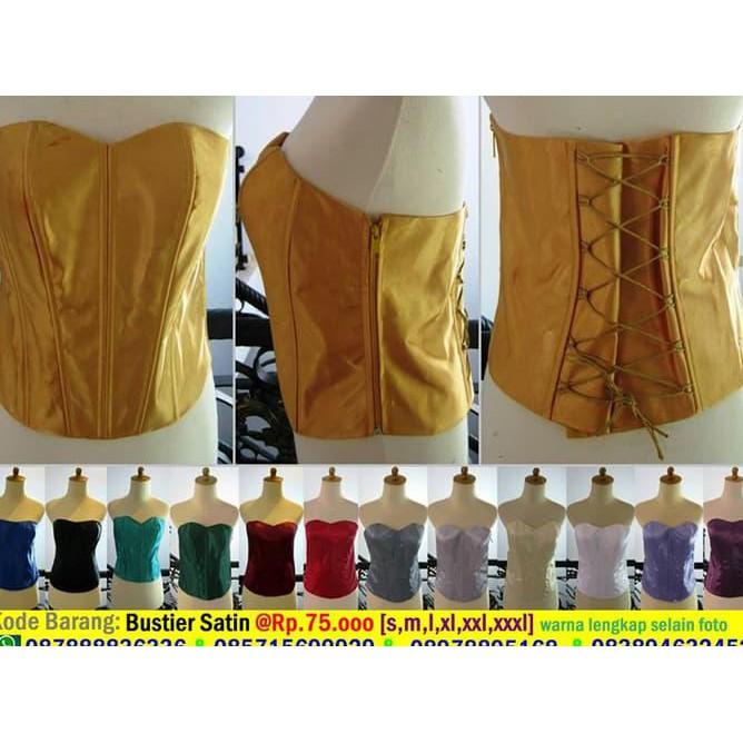Bustier longtorso kemben long torso bahan satin saten ada tali kamisol all  size isi dalaman kebaya  983f01515c