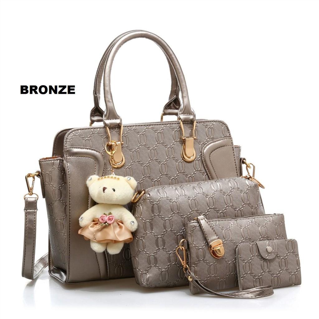 Tas Teddy 4 in 1 ! Tas import murah / Tas batam / Tas 4 in 1 / Handbag   Shopee Indonesia