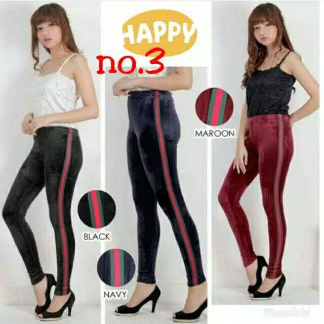 Celana Legging Celana Pants Bludru List Celana Legging Fashion Wanita Shopee Indonesia