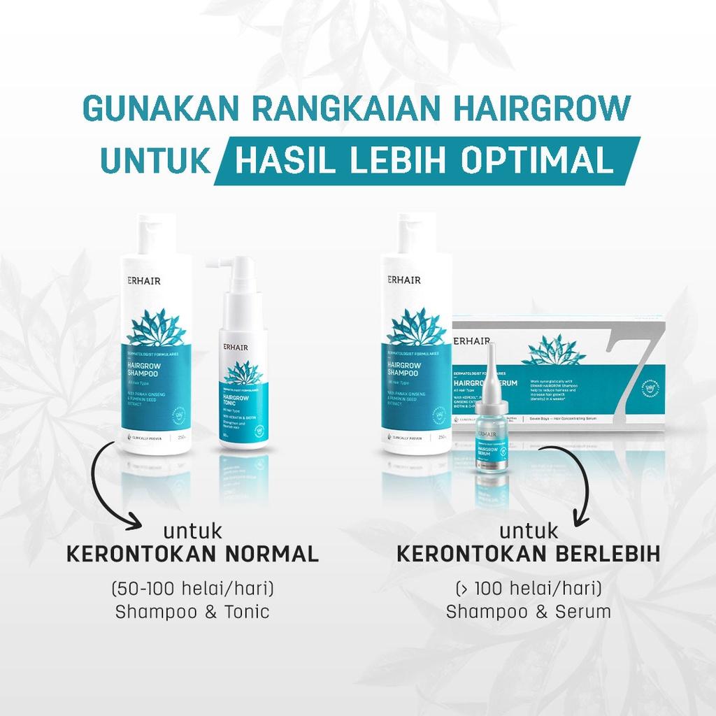 ERHA VP ERHAIR Hairgrow Shampoo 250ml & Tonic - Sampo & Tonik Anti Rambut Rontok-6
