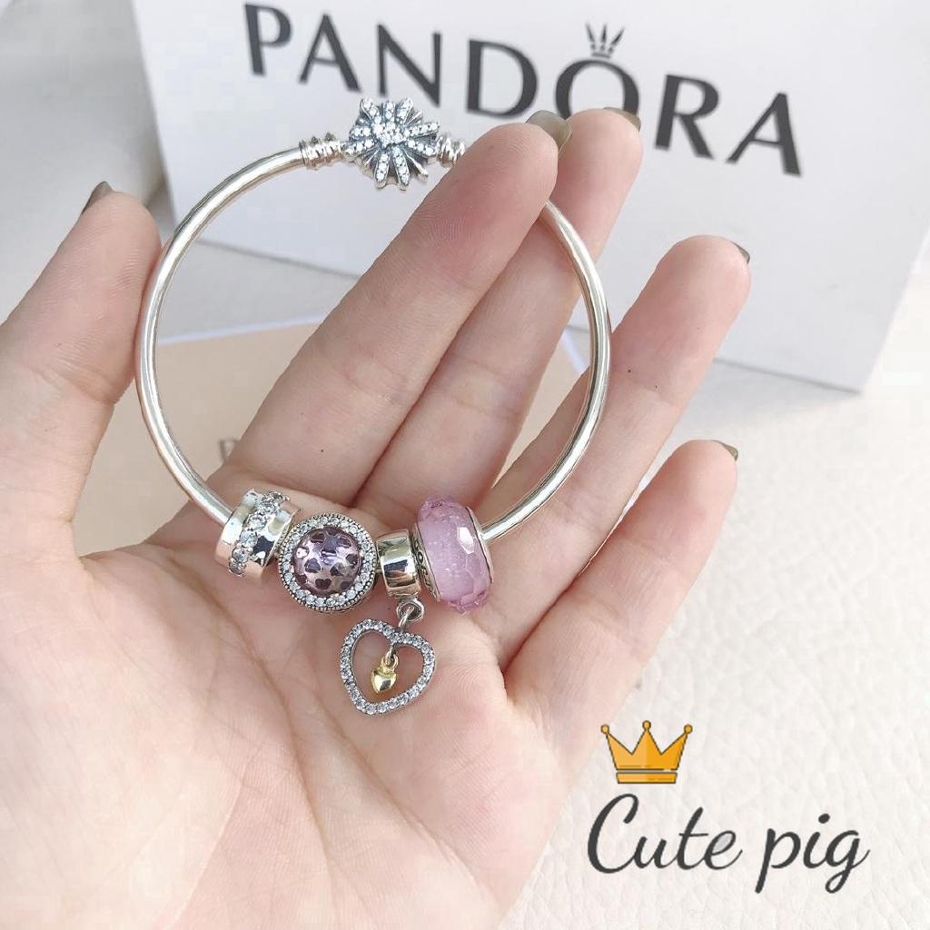 Pandora One Year Warranty 100 Original Diy Combination Four Accessories Bracelet Woman Shopee Indonesia