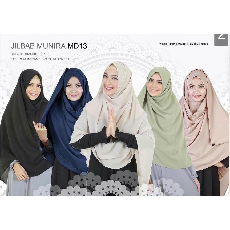 Hijab Instan Pashmina Daily Syari Osi Diamond Crepe Tinggal Slub