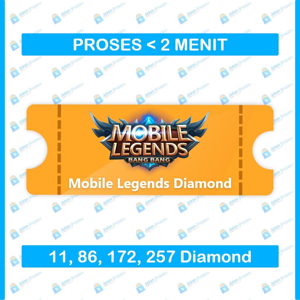 [Instant] Topup Game Mobile Legends DM ML Legend Promo Termurah 86 172 257 344 514 706 Diamond ID