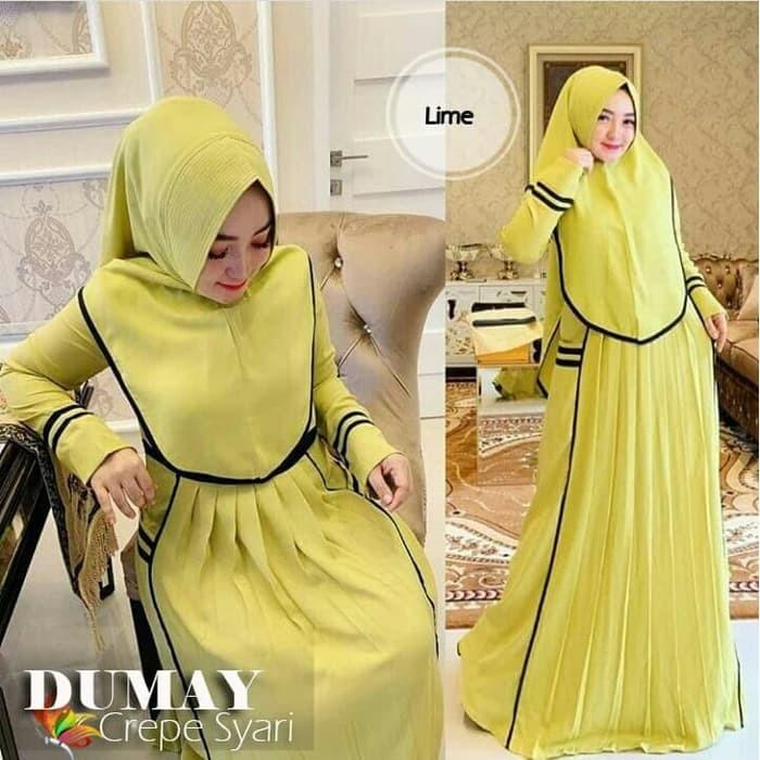 Gamis Syari Oliv Terbaru Lebaran 2020 Promo Murah Khimar Musl Fd878 Dumay Syari Set Hijab Max Shopee Indonesia