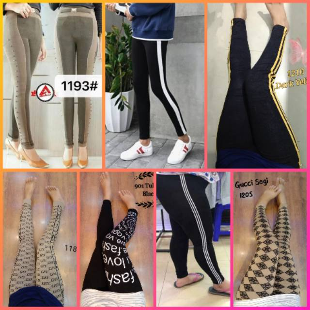 Celana Legging List Legging Kaos Import Shopee Indonesia