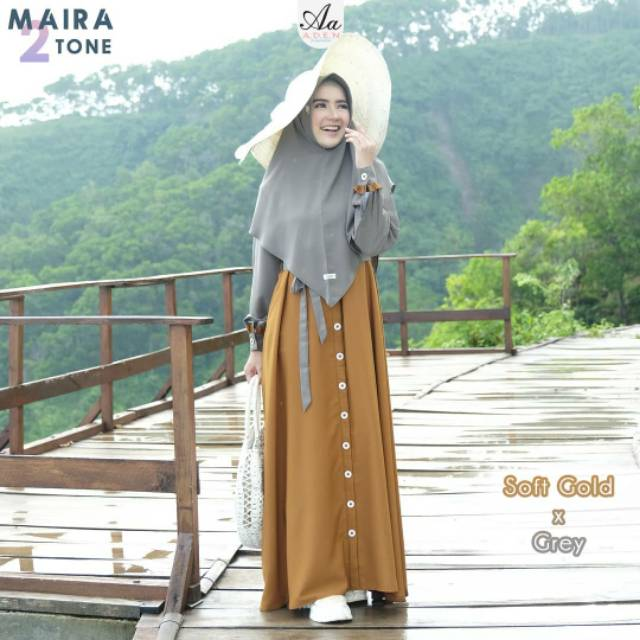 Gamis Maira Two Tone Aa Aden Aden Hijab Dress only