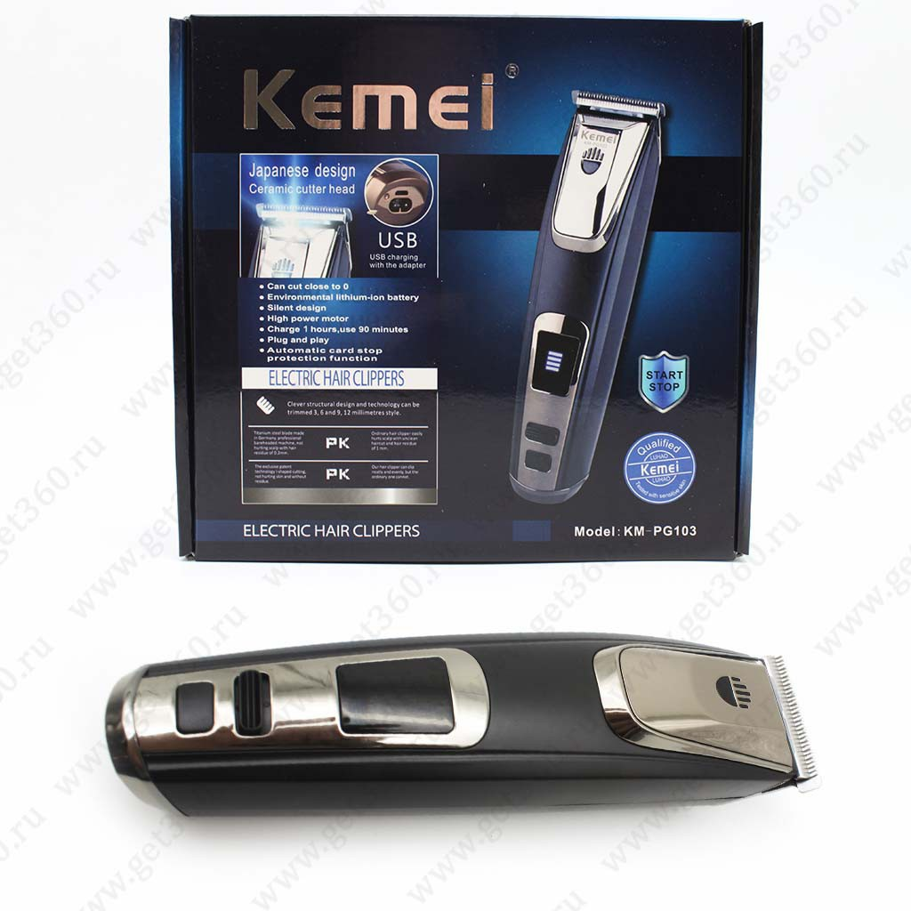 Kemei Km 809b Rechargable Electric Hair Clipper Trimmer Non Lcd Alat Cukur Shaver Jenggot Kumis Merek Philco 3 D Rechargeable Shopee Indonesia
