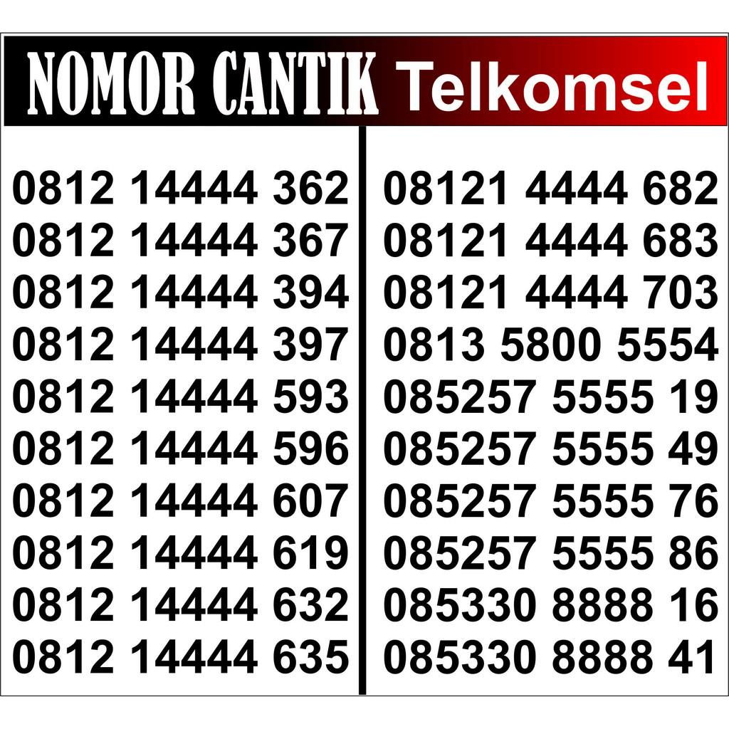 Kartu Perdana Telkomsel Nomor Cantik Simpati 11 digit 4G LTE Triple 777 | Shopee Indonesia