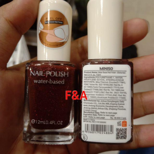 Miniso Original 18wrn Water Based Nail Polish 12ml Shopee Indonesia