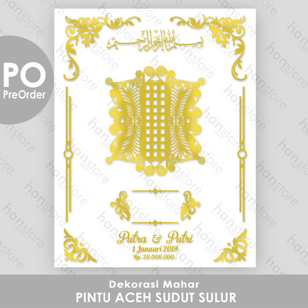 po dekorasi mahar pintu aceh sudut sulur akrilik cermin emas perak shopee indonesia po dekorasi mahar pintu aceh sudut sulur akrilik cermin emas perak