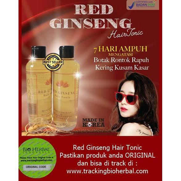 OmBotak (BPOM) Red Ginseng Hair Tonic Penumbuh Rambut Made in Korea   Shopee Indonesia