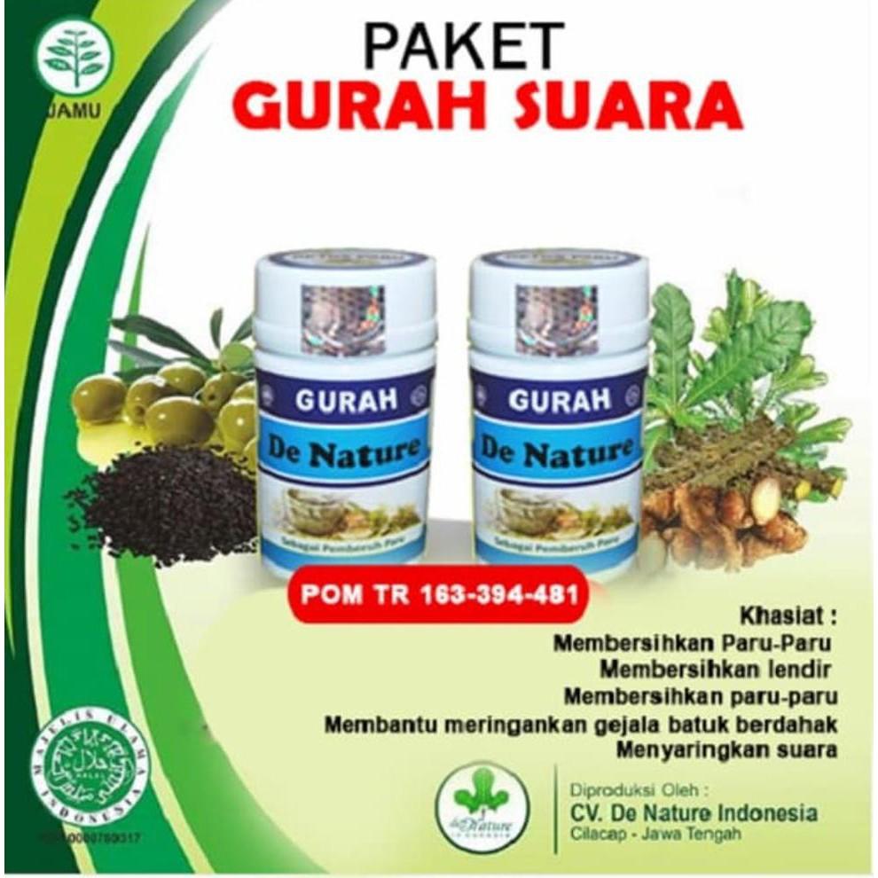 Hot Sale!! Obat Gurah Pita Suara Herbal Agar Suara Merdu Nafas Panjang De  Nature
