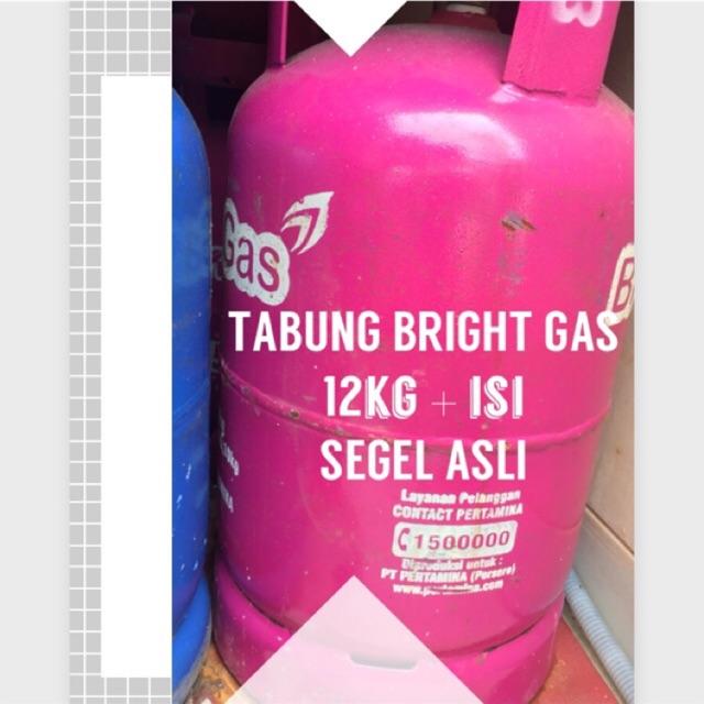 Tabung Bright Gas 12 Kg Isi Murah Segel Asli Shopee Indonesia