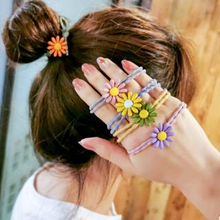Multicolor Elastic Hair Bands Daisy Flower Cute Tie Rubber Band Hair Accessories thumbnail