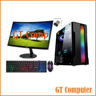 PC Lengkap Gaming i7 VGA GTX 1650 SUPER RAM 16GB Include LED Samsung 24