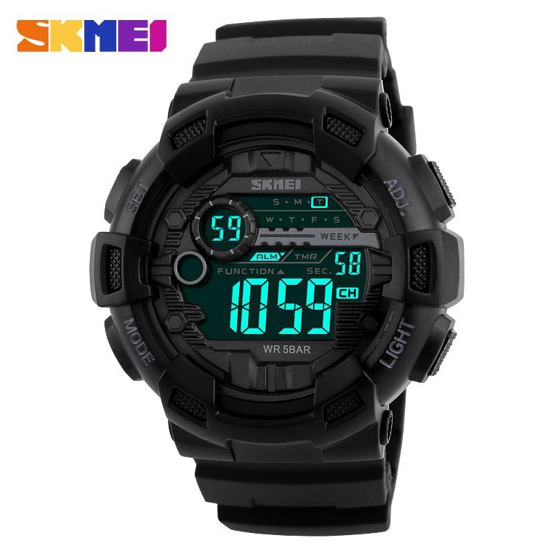 Jam Tangan Pria Digital SKMEI 1025 Black Water Resistant 50M ... 13a931d0e8