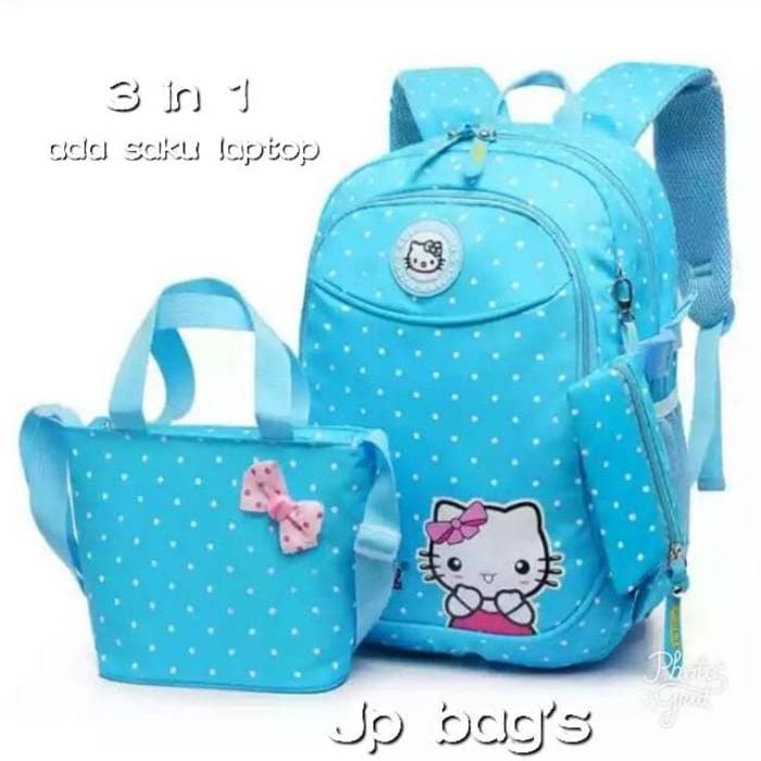 Unik Grosir Tas Ransel Anak Sekolah SD Perempuan Hello Kitty 3in1 Murah 4  Ungu Diskon  733c4ccb7f
