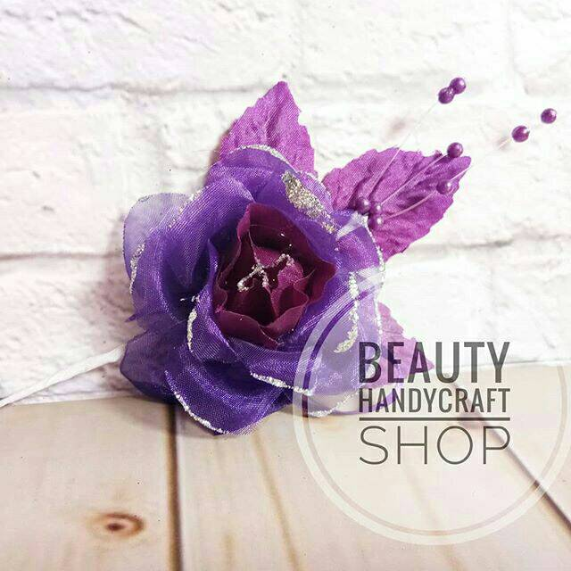 Bunga Mawar Korsase Konde Besar Per Bh Warna Ungu Tua Shopee Indonesia