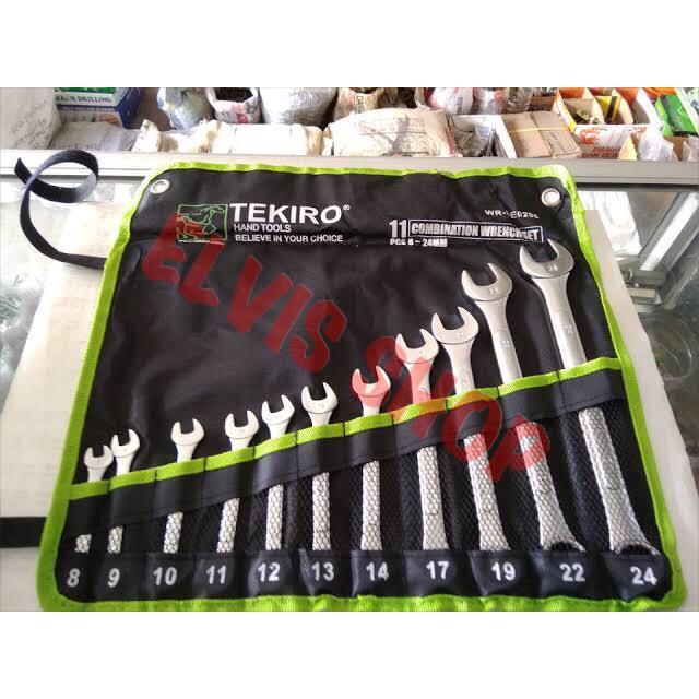 Kunci Ring Pas set 11 pc Tekiro / Kunci Ring Pas 8 - 24 mm Tekiro / Tekiro Kunci Ring pas set