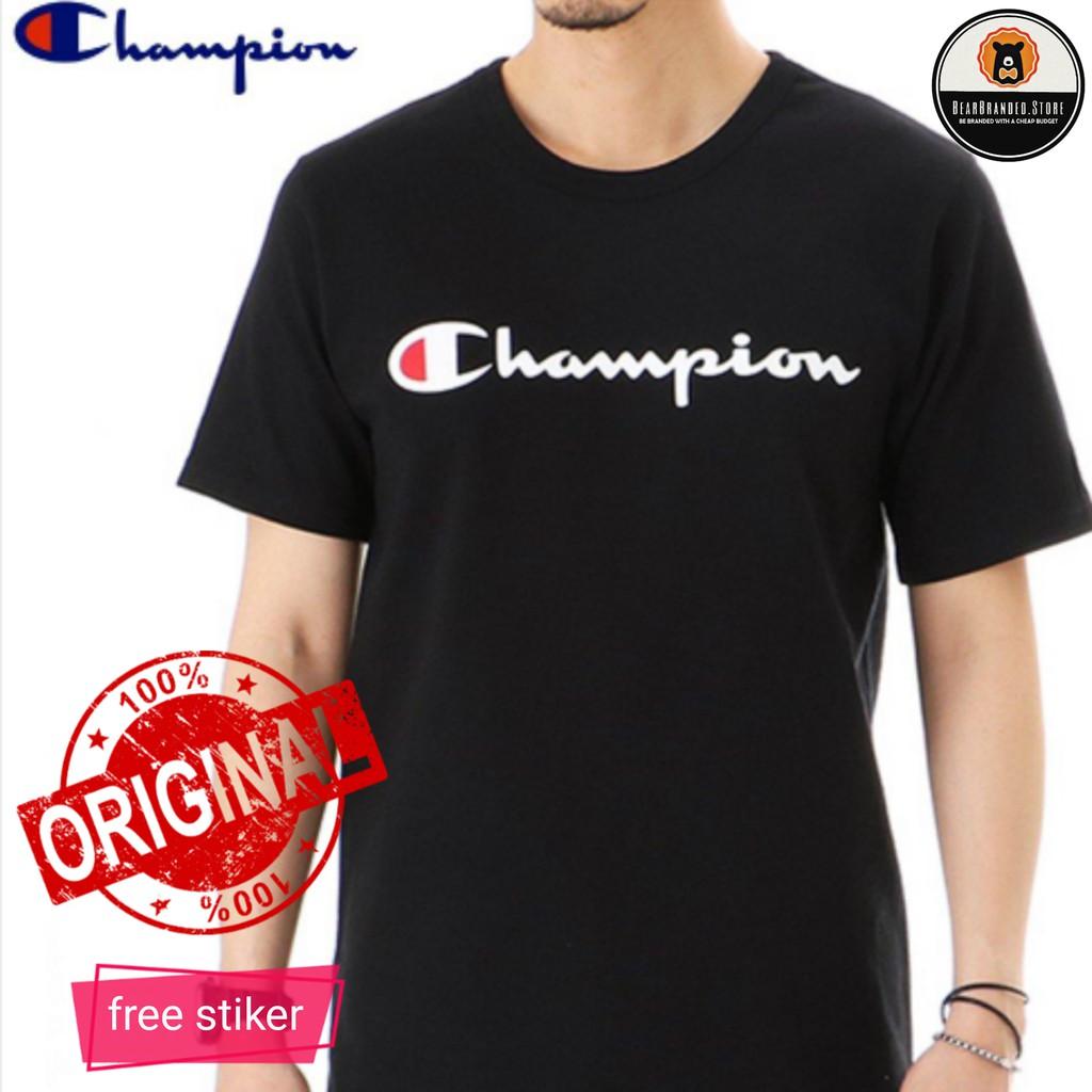 f11d575cb9f5 CHAMPION Mens Script Tees | Shopee Indonesia