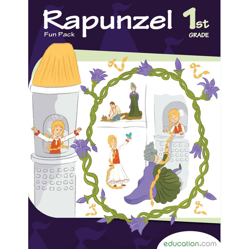 Rapunzel Fun Pack Buku Aktivitas Anak SD Membaca Dongeng Bergambar