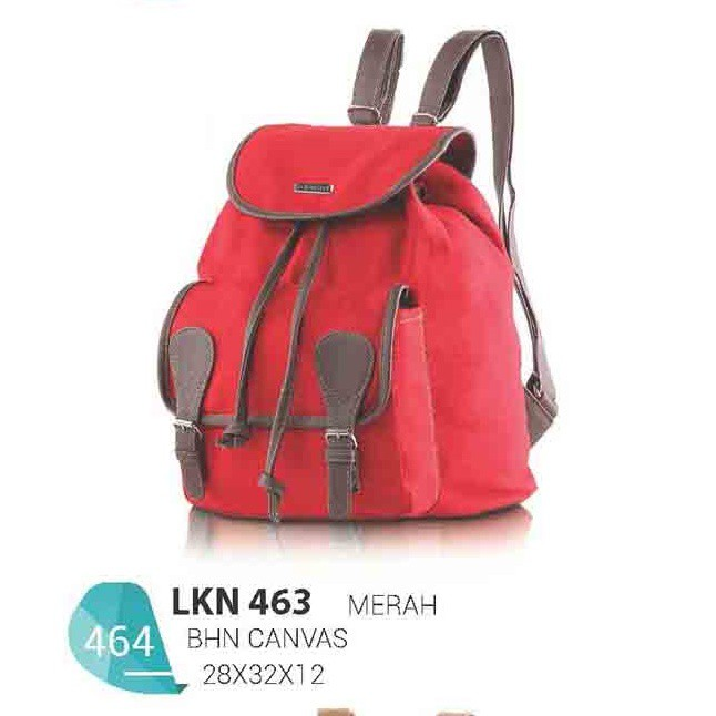 Tas Backpack Casual Wanita Bahan Canvas Warna LKN 463 Merek Blackkelly  Bandung e687f4b727