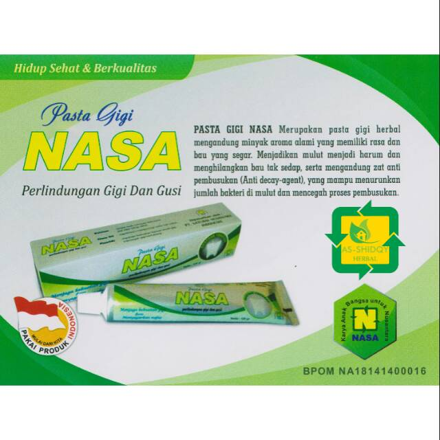Pasta gigi Nasa Exp 02 2023 asli member  d93314738d