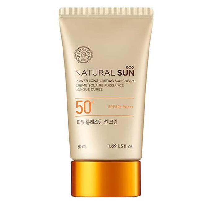 THEFACESHOP NATURAL SUN ECO POWER LONG-LASTING SUN CREAM SPF50+ PA+++ |  Shopee Indonesia
