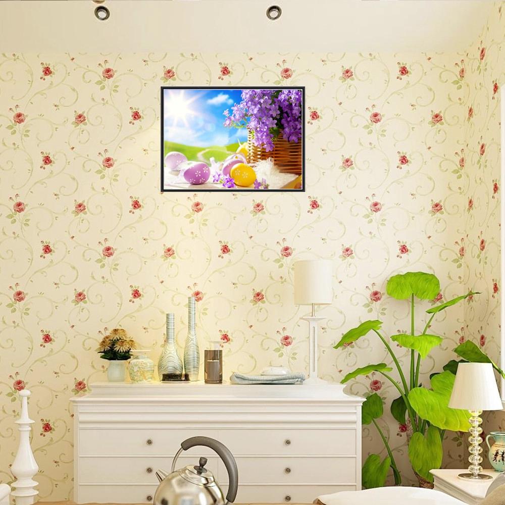 Diy Lukisan Diamond 5d Dengan Gambar Rumput Bunga Untuk Hiasan