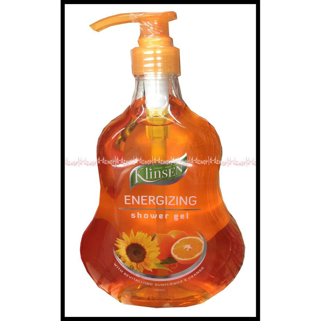 Klinsen energizing shower gel sabun Mandi Klinsen orange oren 1000ml   Shopee Indonesia