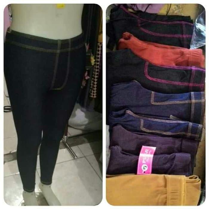 Jual Jegging Panjang Levis Jeans Allsize Celana Legging Denim Wanita Murah Shopee Indonesia