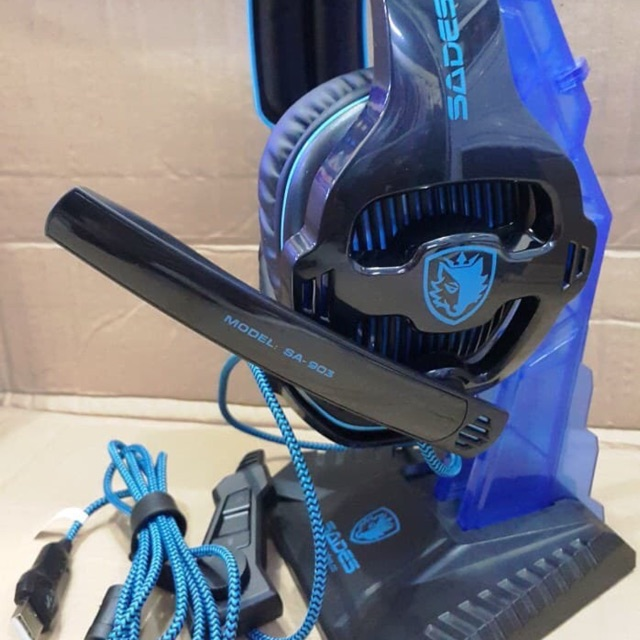 Sades Headset Gaming SA903 with 7.1 Channel Surround Usb
