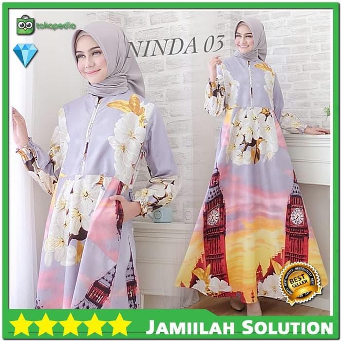 Baju Gamis Syari Jubah Muslim Motif Bahan Katun All Size Kualitas Adem Shopee Indonesia