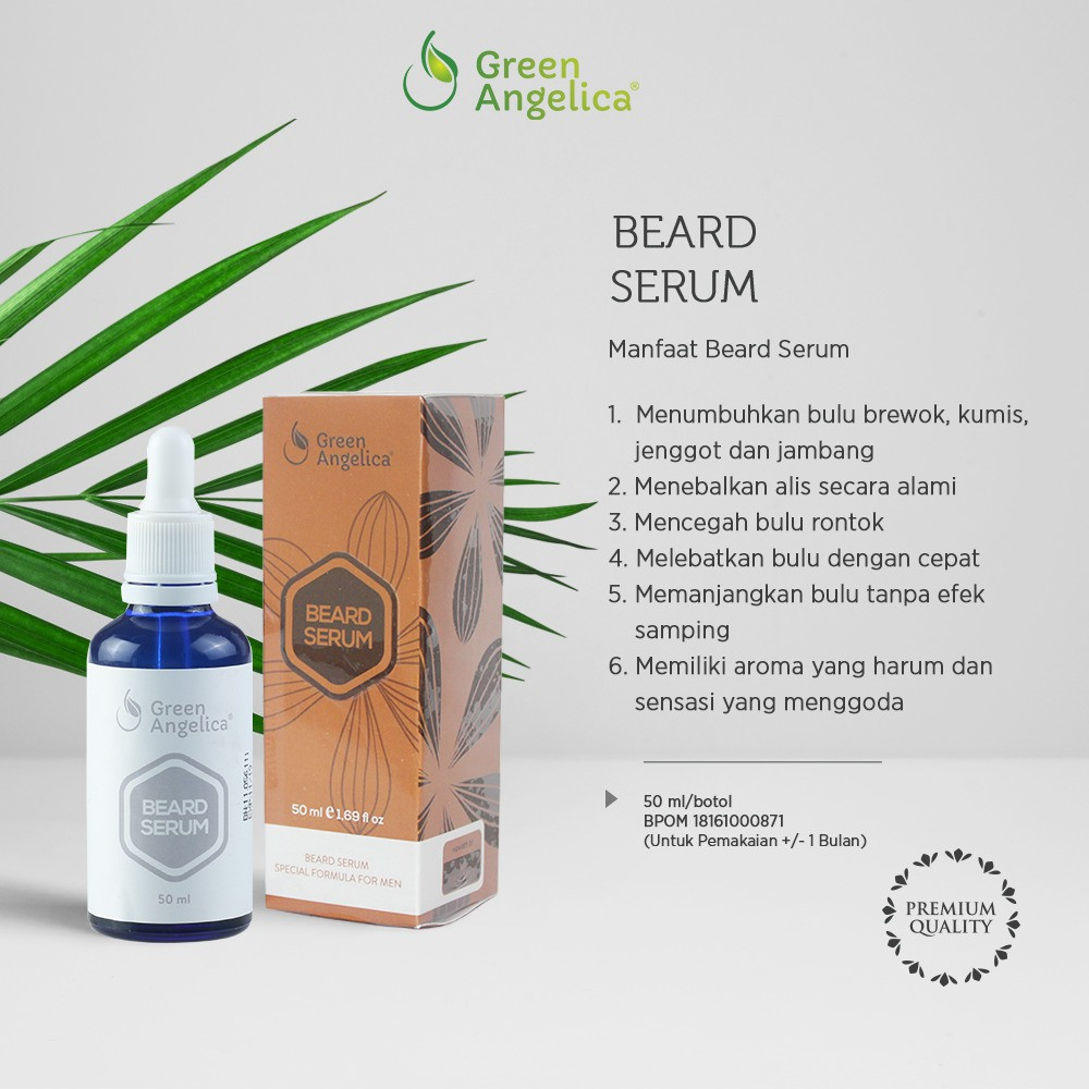 Penumbuh Kumis BEARD SERUM Obat Kumis Pemanjang Bulu Jambang Ampuh Green Angelica Penebal alis cepat | Shopee Indonesia