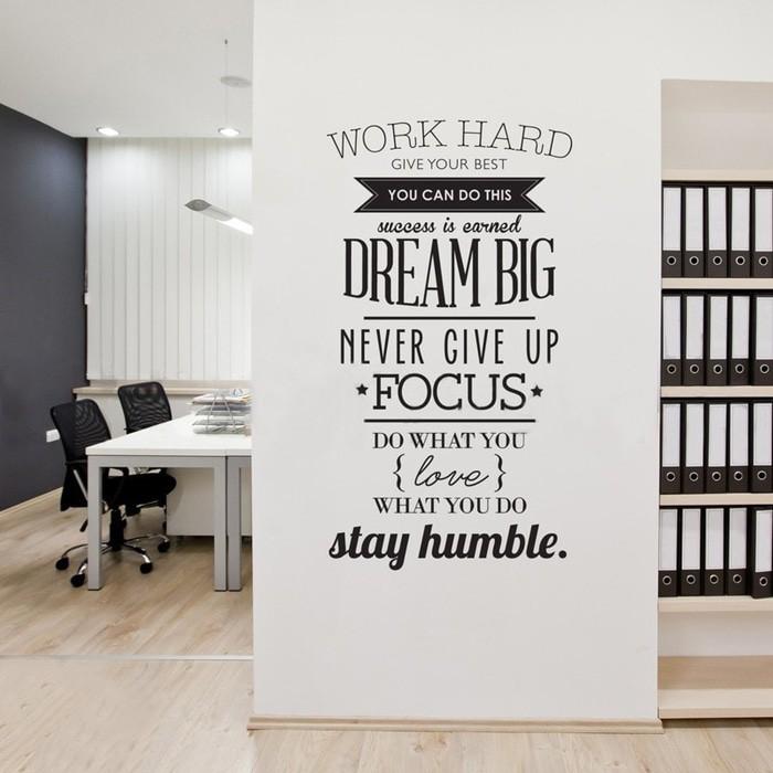 Best Seller Sticker Wallpaper Dinding Kaca Motivasi Work Hard Kata Bijak