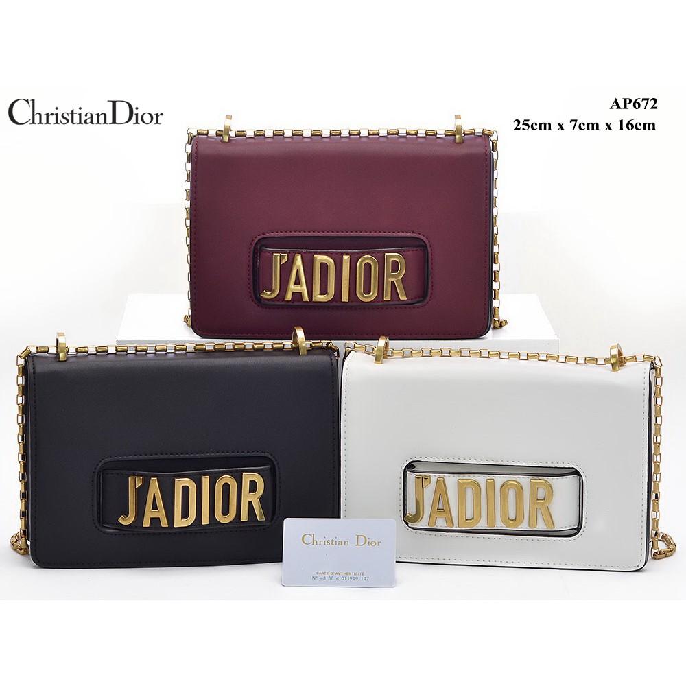 TAS BRANDED IMPORT MURAH - Tas Dior Jadior Flap Chain Calfskin Semi Premium  AP672  c90c9cb0cb