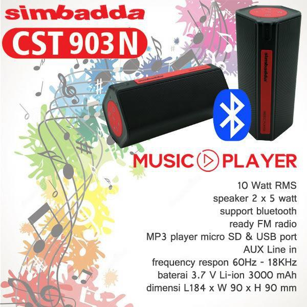 Terbaru Simbadda Speaker Bluetooth CST 806N Original .