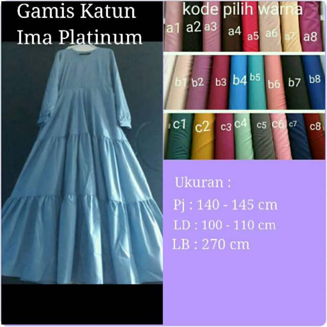 Gamis Katun Ima Platinum Shopee Indonesia