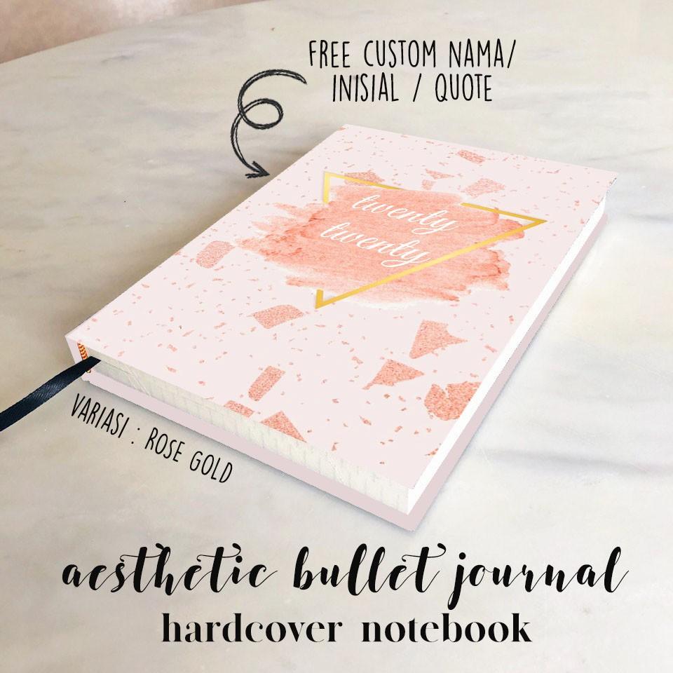 Custom Name Hardcover Aesthetic Notebook Buku Tulis A5 B5 Plain Grid Dotted Sekolah Bullet Journal Shopee Indonesia