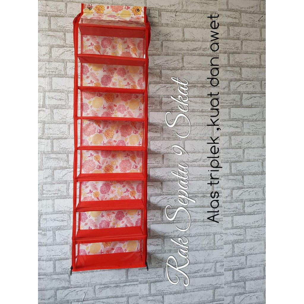 Harga Dan Spesifikasi Rak Sepatu Gantung 9 Susun Motif Bunga Sekat Acrorip 903 One Phase Print Tinta Putih Warna Bersamaan Full Triplek Hso Shopee Indonesia Triplex