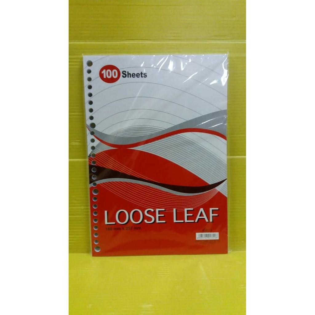 New Besar Isi Kertas File Binder Loose Leaf Paperline 100 Sheets B5 50lbr Lembar Shopee Indonesia